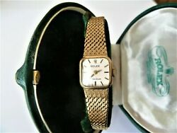 Rolex Precision Ladies Watch. High Grade Movement. All Solid 9ct My Ref No 89.