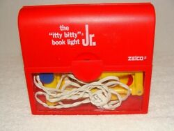 Itty Bitty Book Light Jr. Red And Yellow Battery Operated Zelco 1991 Works