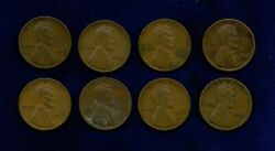 U.s. Lincoln Cents 1 Penny Coins 1913 1914 1915 1916 1917 1918 1919 1920