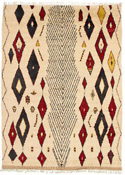 Modern Hand-knotted Carpet 8'11 X 12'5 Ivory Wool Area Rug