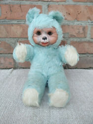 Vintage Antique Soft Toy Teddy Bear Rubber Face Rushton Style 17,7