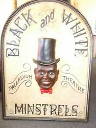 Rare Vintage 3d Sign Black And White Minstrals 1/100 Toad Hall Melb