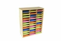 Classroom Select Storage Organizer 36 Shelves 29 X 12 X 35-1/2 Inches Natural...