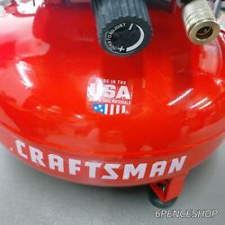Craftsman Air Compressor, 6 Gallon, Pancake, Oil-free With 13 Piece Accessory