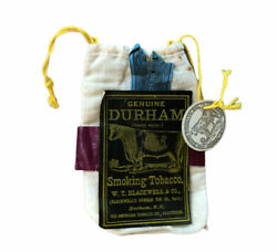 VINTAGE BULL DURHAM Smoking Tobacco EMPTY Bag WHEAT Straw Papers