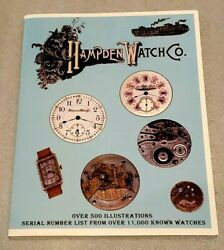 Hampden Watch Co Illustrated W/ Serial Numbers Watches +new Book+see Notes+