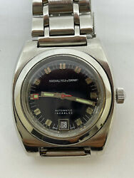 Vintage Marshall Field And Co Diver Watch By Zila Watch Eta 2772 Replacement Beze