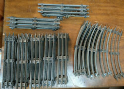 Marx O Lot Of 47 Pieces Of Straight And Curved Track. Vintage 3 Rail O27 Usa