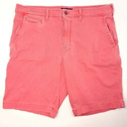 American Eagle Classic Extreme Flex Chino Shorts Mens 36 Pink Stretch 10 Inseam