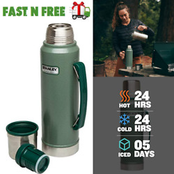 Classic Vacuum Thermos Bottle Coffee Insulated Wide Mouth 1.1 Qt Stainless