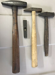 Lot Of 4 Different Old/vintage 1 Plumb S.n Etc Tack/machinist Hammers Locf23