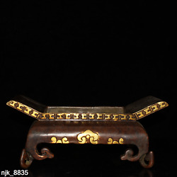 China Antique Handmade Pure Copper Gilded Gold Quadrilateral Leg Furnace
