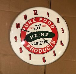 Heinz Vintage Wall Clock-59 White Face W Red -black Hands
