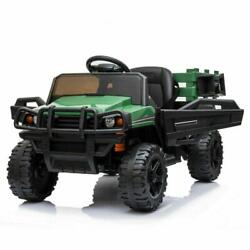 12v Kid Ride On Tractor Battery Powered Electric Truck W/ Trailer Remote