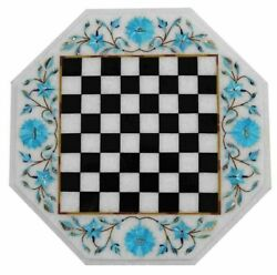 Antique Marble Chess Board Games Playroom Decor Handmade Indoor Game Table Tops