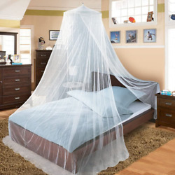 Bed Canopy For Single To King Size Beds White