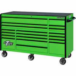 Extreme Tools Rx Series 72in.l X 30in.w 19 Drawer Tool Roller Cabinet - Green
