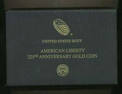 2017 W 100 American Liberty High Relief Proof Gold Coin In Complete Ogp + Book