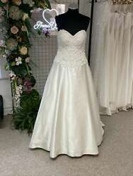 Kenneth Winston 1779 Ivory Lace And Satin Ivory Ballgown Wedding Dress 8 Rrp Andpound1475