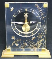 Lecoultre Lucite Skeleton Desk Or Table Marina Clock W/ Bees - For Repair