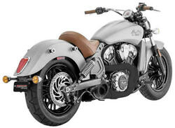 Freedom Performance Turnout 21 Exhaust System Pitch Black Indian Scout 15-17