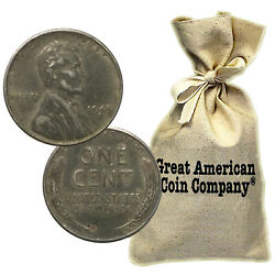 Bag Of 500 Circulated 1943 Steel Pennies P D And S Mint Marks Wwii Wartime Cents
