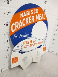 Nabisco 1940s Grocery Store Display Sign Cracker Meal Frying Sea Food Fish