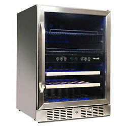 Newair 20 Bottle/70 Can Dual Zone Wine And Beverage Cooler Refurbished