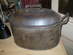 Vintage Kitchenaliafrench 19th Century Cooking Pot With Trivet Vgc