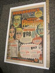 Woolworth Halloween Mask Costume Candy 1965 Munsters Addams Family Troll Monster