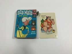 1959 Vintage Old Maid Card Game Empty Box Only Plus One Card Ed-u-cards P7