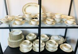 Noritake Muriel Fine China Set Almost 12 Place Setting 87 Pieces Circa 1930's