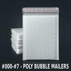 Any Size Poly Bubble Mailers Shipping Mailing Padded Bags Envelopes 25 - 2000