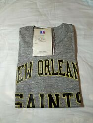 Dead Stock Folded Nwt 1988 Russell Athletic New Orleans Saints T-shirt Large