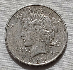 1922-p Peace Dollar Better Silver 1 Coin Us Currency Collectible Lot 12521