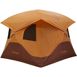 Gazelle T4 Extra Large 4 Person Family Instant Pop Up Camping Hub Tent Orange