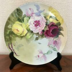 1906s1932s Antique French Limoges Jesn L. Pouyat Mark Platter 11.61inch