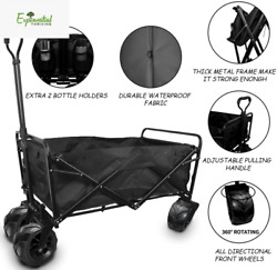 Collapsible Wagon Heavy Duty Cart Supports165 lbs Sturdy Beach Wheels $185.93