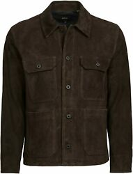 Vince Menand039s Suede Utility Jacket