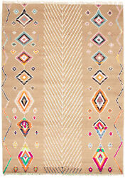 Modern Hand-knotted Carpet 8'10 X 12'6 Tan Wool Area Rug