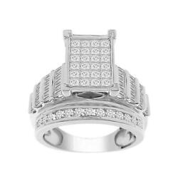 2.00ct T.w. Princess Diamond Composite Engagement Ring In 10k Gold