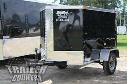 New 2021 4x6 4 X 6 V-nosed Enclosed Cargo Motorcycle Bike Trailer