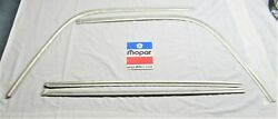1971 Charger Se R/t Super Bee Exterior Rear Window Trim Textured Stainless Clean