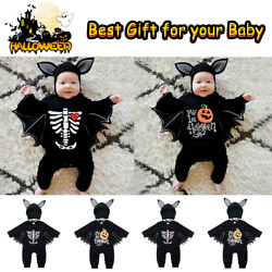 Newborn Baby Halloween Cosplay Costumes Boys Girls Romper JumpsuitsHats Outfits $23.99