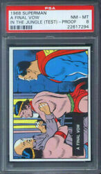 1968 Topps Superman In The Jungle Test Set A Final Vow Psa 8