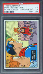 1968 Topps Superman In The Jungle Test Set Into The Lost City Psa 5