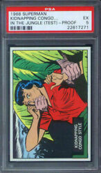 1968 Topps Superman In The Jungle Test Set Kidnapping Congo Style Psa 5