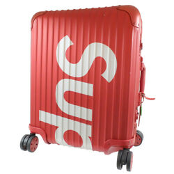 Rimowa 18stainless Steel Supreme Collaboration Topaz Suitcase Red X White Al...