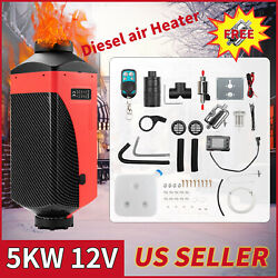 Universal 12v 5kw Diesel Heaters 2 Vent Lcd Switch 10l Tank For Truck Boat Rv