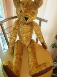 Vintage Large Antique Soft Toy Bear Humpbacked Jointed Sawdust 244 Steiff
